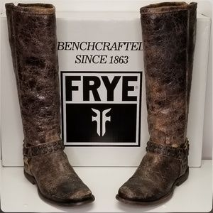 FRYE Women's Phillip Studded Harness Tall Boot 7.5